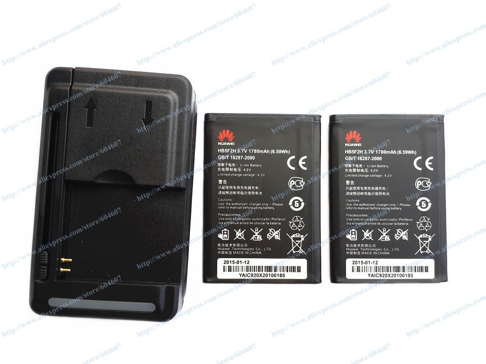 New 2pcs HB5F2H HB554666RAW Battery+Wall Charger For Huawei Mobile