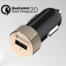 3Colors Quick Charge 2.0 Stand USB QC2.0 Car Charger for Samsung Galaxy S6 HTC M9 Nexus 6 Xiaomi Mi3 Mi Note