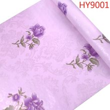 Розовые водостойкие самоклеящиеся обои, виниловые обои для украшения дома, спальни, гостиной, рулон размером 0,45 М * 10 м(Китай)
