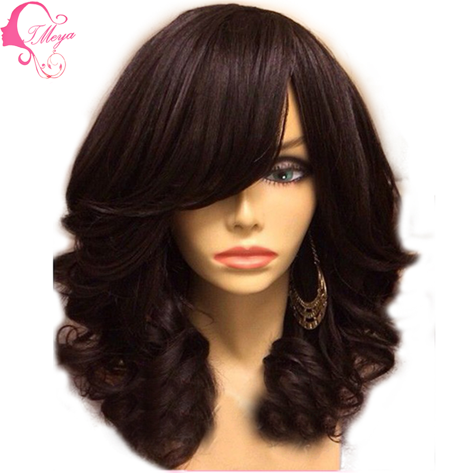 Hot Sale Glueless Full Lace Wigs Human Hair Peruvian