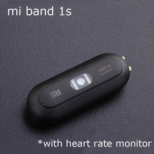 Original Xiaomi Mi Band 1S Smart Bracelet Xiaomi MiBand 1S Heart Rate Monitor Bluetooth IP67 Waterproof  only the host