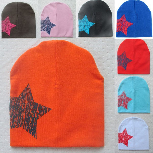 Hot Baby Kid Toddler Cute Stars Printed Hat Soft Warm Cotton Girl Boy Beanie Cap