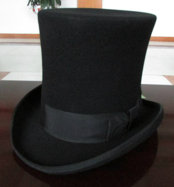 b4a31648a993a Wholesale-25cm High Black Wool top hat for women and men chapeau fedora  felt vintage trational party church hats