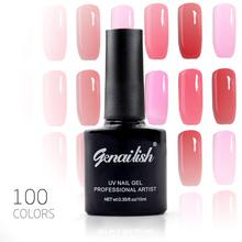 100 Color Nail Gel Polish Gel Long-lasting Soak-off LED UV Gel High Quality Nail Polish Hot Nail Gel 10ml/Pcs Nail Art Tools-NG1