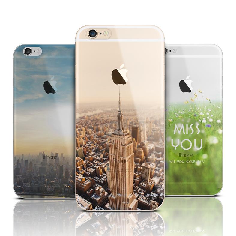 Ultra lehký silikonový kryt na mobil iphone 6 s obrázkem krajiny 5708a8bea95