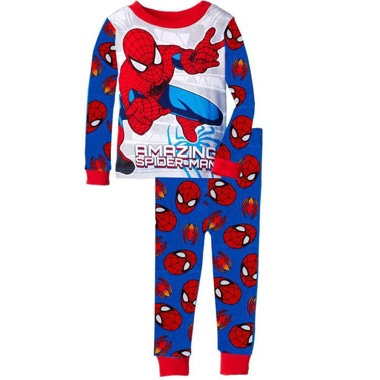 fashion new boys superman pajamas children's pajamas kids