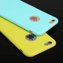 New Arrival case for iphone 6! Candy colors Soft TPU Silicon phone cases for iphone 6 4.7″  Coque with logo window Accessories