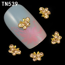 10pcs Glitter Butterfly Rhinestones 3d Nail Art Decorations, Alloy Nail Sticker Charms Jewelry for Nail Gel/Polish Tools TN539