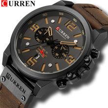 Мужские часы, армейские, спортивные, кварцевые, из кожи, 8314(Китай)