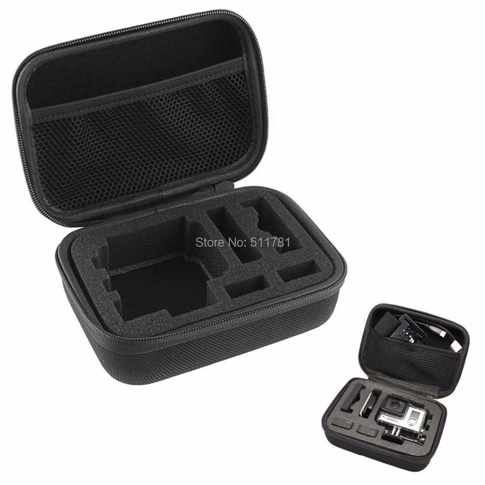 Black Ediction Portable Smail Size Gopro Collection Bag Case For Gopro Hero 3 2