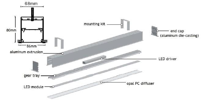European Standard Modern Design Recessed Linear Lighting