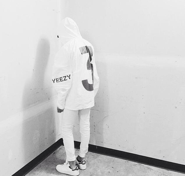 Herbst Yeezy 3 Windbreaker Jacke Boost Kanye West X AD Staffel 1 NYC Ereignis Einladung Kapuzen Anorak Tyvek Papier Jacken Weiß