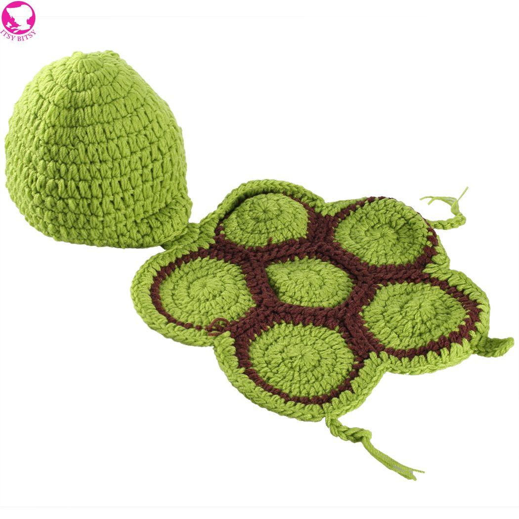 Новорожденный черепаха hat младенческой вязать свитер крючком опора экипировка