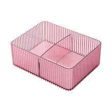 Одноцветный органайзер для макияжа, коробка для хранения, офисный органайзер, косметика, уход за кожей, пластиковый лоток для хранения, шкат...(Китай)