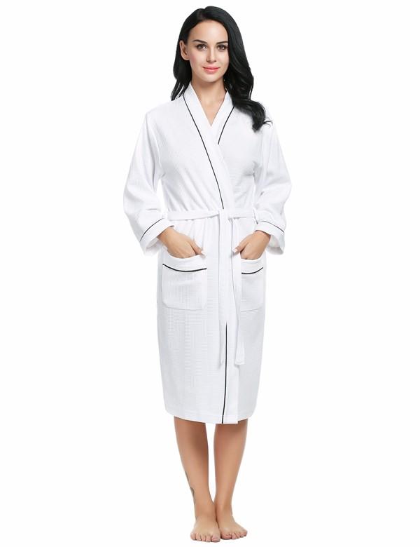 347ed3bd4c Wholesale Ekouaer Cotton Women Robes Bathrobes Wedding Bridal Kimono ...