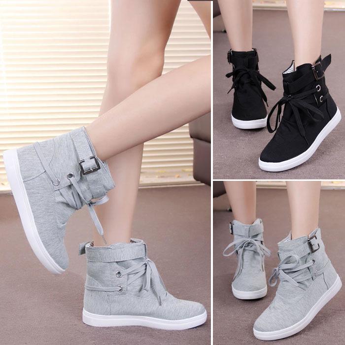 Wedge sneakers korean