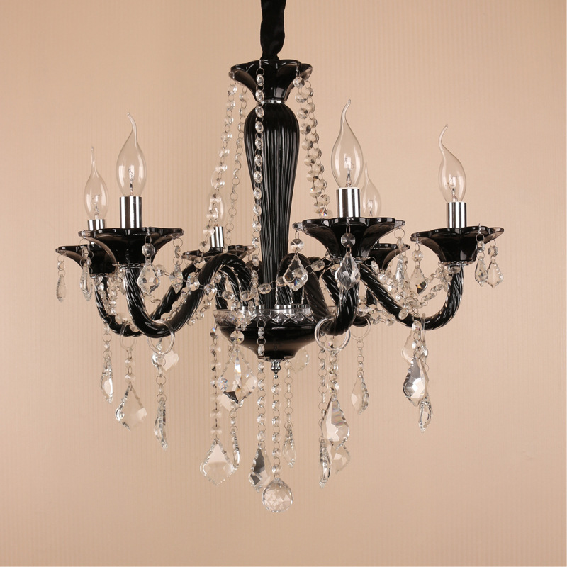 Lamparas de cristales black chandelier <font><b>italian</b></font> designer lamps E14 crystal chandelier <font><b>home</b></font> <font><b>decoration</b></font> chinese lighting