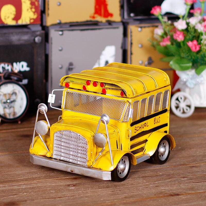 1 65 Alloy Toy Cars Model American Style Transporter Truck: Popular Vintage School Bus-Buy Cheap Vintage School Bus