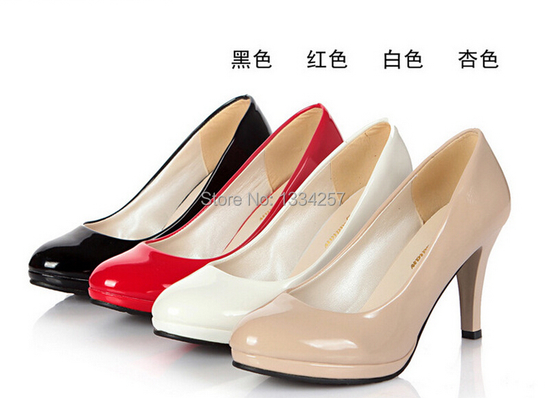 Dress Shoes In High Heels Red Color Size