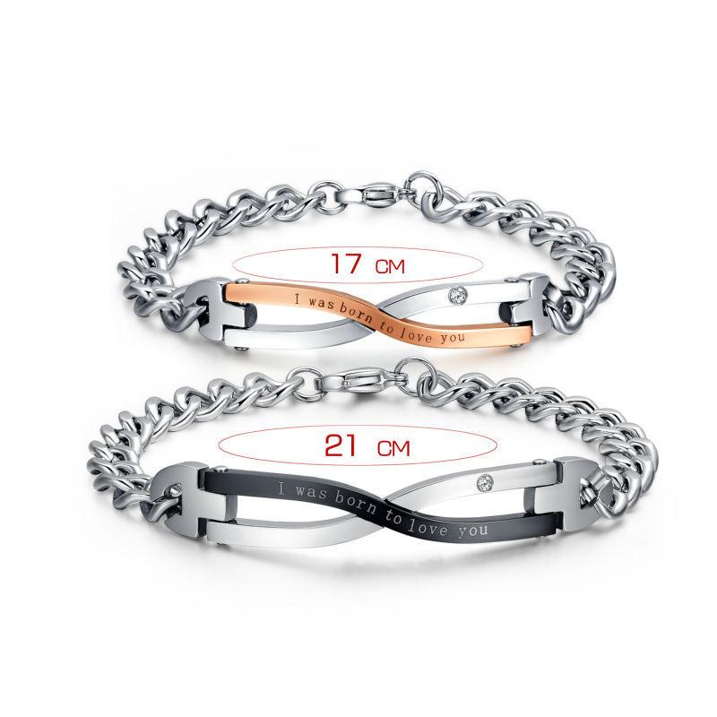 2015 марка дизайн браслеты для пар нержавеющей стали любовник ювелирные изделия свадебный Jewerly для женщин мужчин подарки