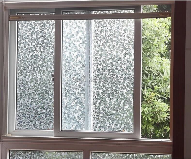 Glue stati cling stone design window glass film sticker bathroom office kitchen width40 50