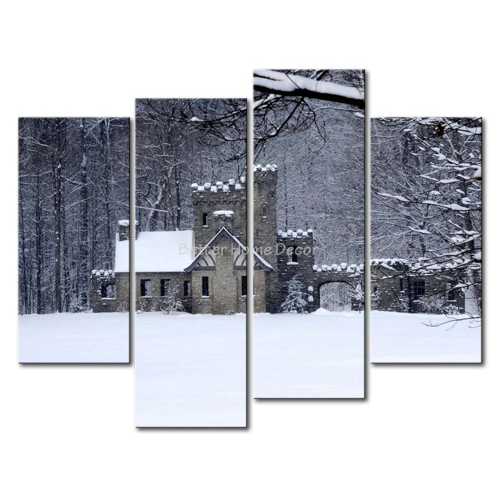 3 Piece Wall Art Painting Abandoned Snow Keep In Winter Print On Canvas The Picture City 4 5 Pictures Oil Prints For Home Decor
