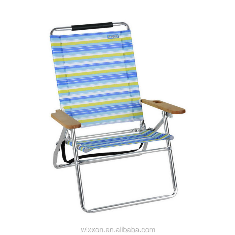 Wooden Armrests Shoulder Straps Folding Backpack Beach