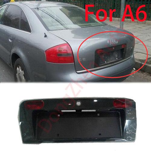 Автомобиль зад номерного знака рама крышка аксессуары , пригодный для Audi A6 C5 2000 - 2002 автомобиль парковка