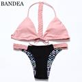 New Sexy Swimwear Bikini Sweet Pink Bandage Bikini Brazilian Swimsuit Bathing Suit Beachwear Maillot De Bain