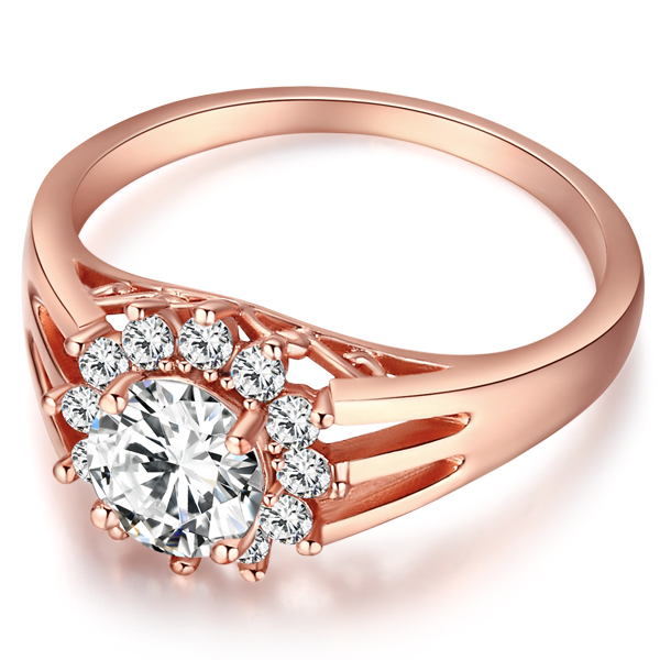 High Quality Fashion Wedding Rings For Women 2015 Real 18k