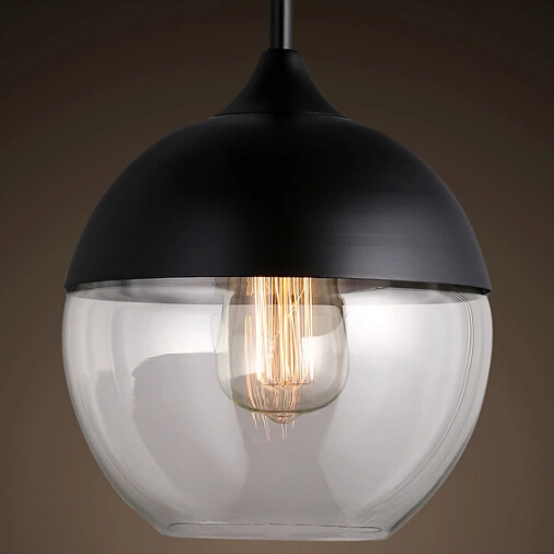 modern pendant lights glass lamp dining room lighting fixture with edison bulbs retro hanging. Black Bedroom Furniture Sets. Home Design Ideas