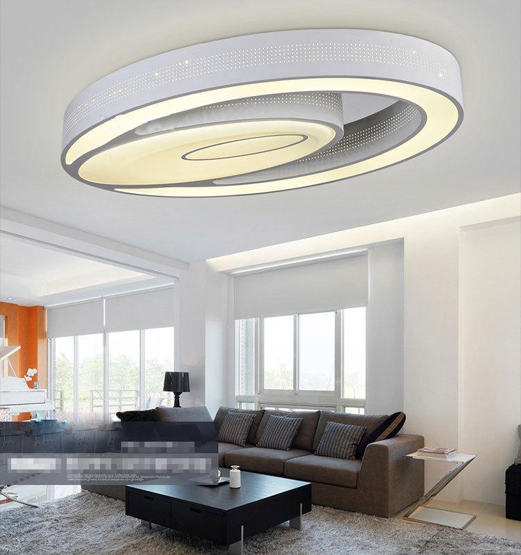 LED Acrylic Black And White Rectangular Square Ceiling