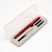 Перьевая ручка Kaco 0,38 мм с капюшоном и чернильным картриджем, подарочный набор, гладкие ручки для письма и практики студентов(Китай)