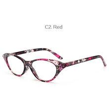 NYWOOH модные очки для чтения «кошачий глаз» женские очки с имитацией бриллианта с принтом против усталости и дальнозоркости диоптрий + 1,5 2,0 2,5 ...(Китай)