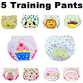 5 pcs lot 2016 NEW Baby Diapers Children Reusable Underwear Breathable Diaper Cover Cotton Training Pants