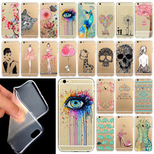Phone Case Cover For iPhone 6 4.7″  Ultra Soft Silicon Transparent Cute Shoes Girl Flowers Animals Patterns Free Shipping Mix