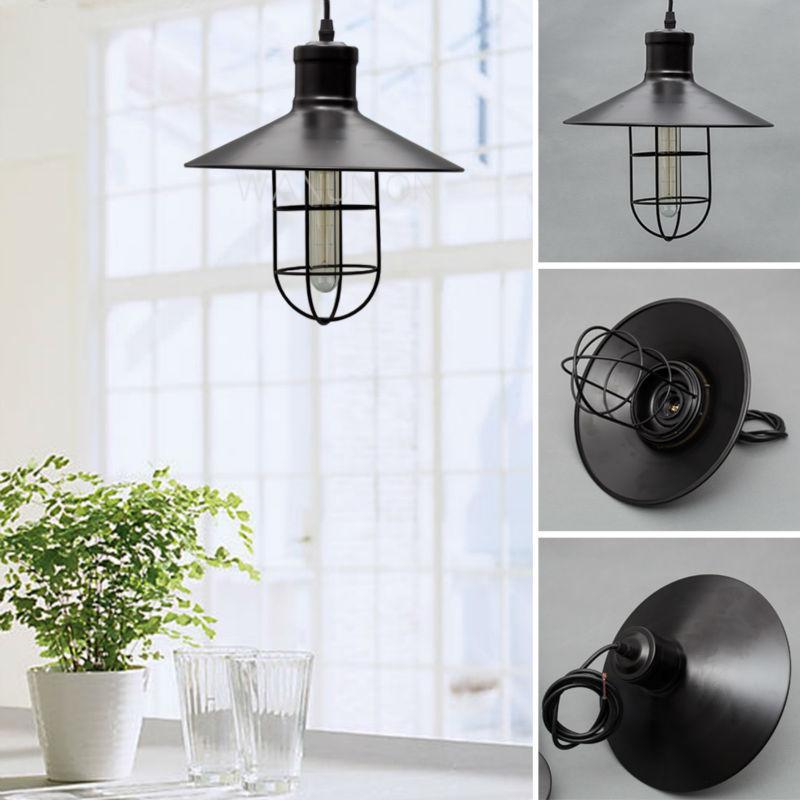 vintage edison pendelleuchte h ngen rustikale vogelk fig lampe beleuchtung schatten leuchten in. Black Bedroom Furniture Sets. Home Design Ideas