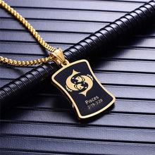 Скорпион 12 созвездий ожерелье в подарок на день рождения Золотой амулет из нержавеющей стали кулон знак зодиака ювелирные изделия колье 2019(Китай)