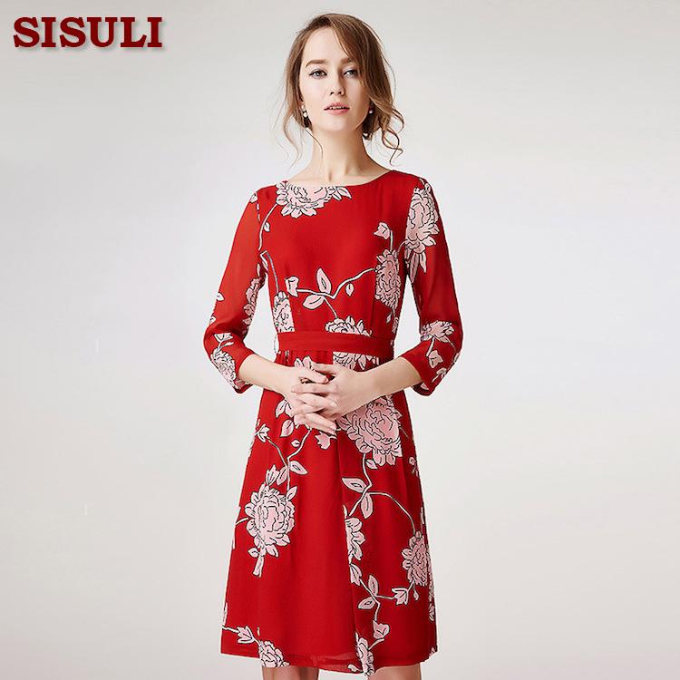 Floral silk chiffon dress consider