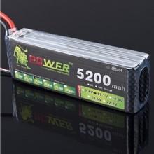 Hot sale 1 pcs Lion Power 3s 11.1V 5200MAH 30C Lipo battery Li poly For RC Car helicopter 6 channel align trex Akku Deans plug