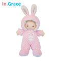 In Grace super cute pink rabbit baby born dolls sleeping comfort doll soft plush and stuffed