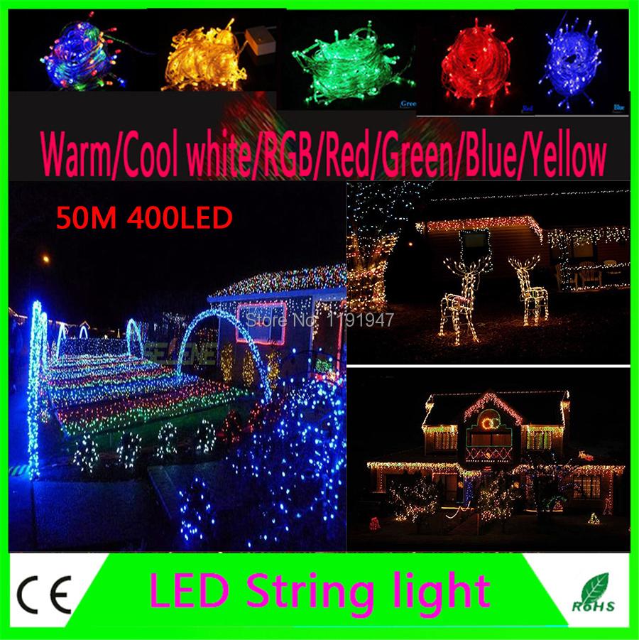 Backyard Twinkle Lights: 220V 50M 400 LED String Lighting Wedding Fairy Christmas
