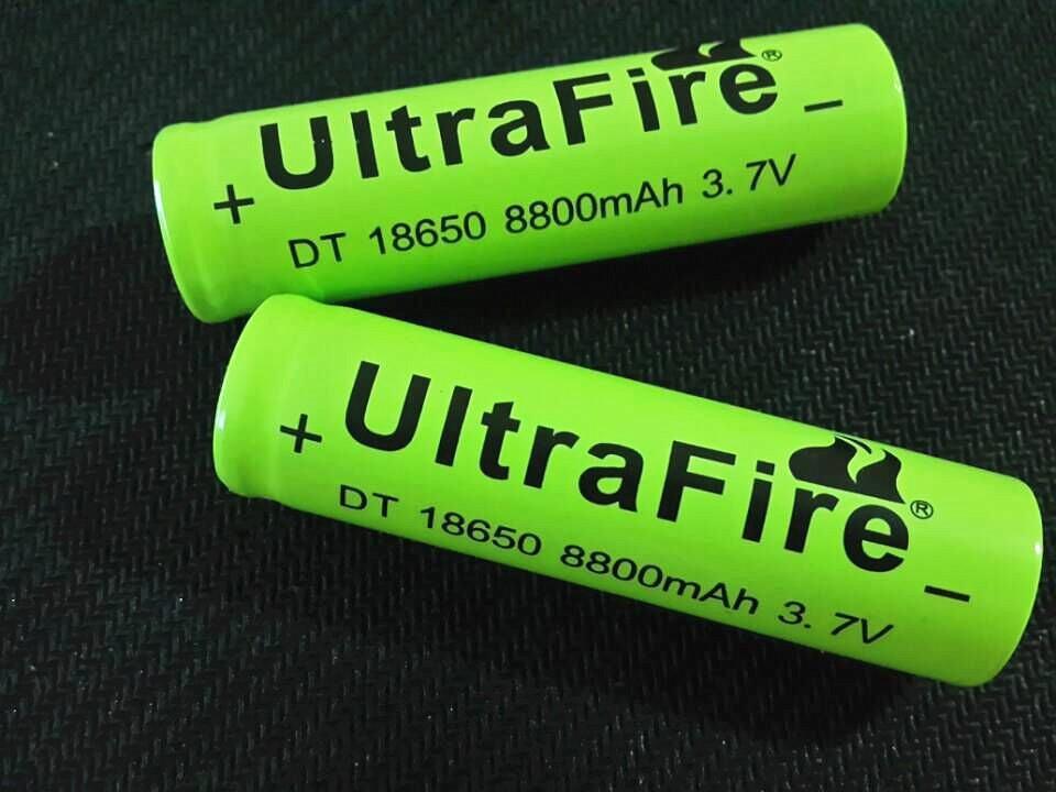 10 Pcs/Lot 18650 battery Ultrafire 3 7V 8800mah Li-ion Rechargeable Battery  Flashlight batteries wholesale