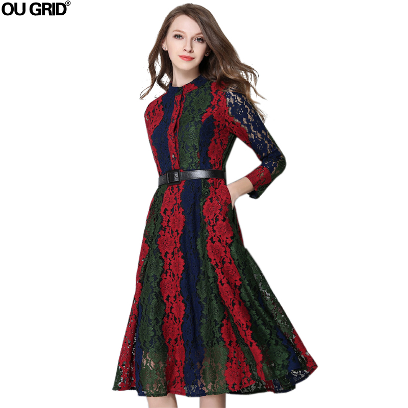 Aliexpress Com Buy Elegant Flare Sleeve Wedding Dress: Aliexpress.com : Buy Ladies Lace Dress 2016 New Arrival