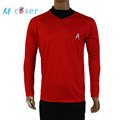 Star Trek Into Darkness Scotty Shirt Uniform Cosplay Costume Red Version For Adult Men