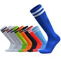 2017 Barreled football socks towel bottom Striped knee stockings Child Men Kids Boys Soccer sock Absorbent