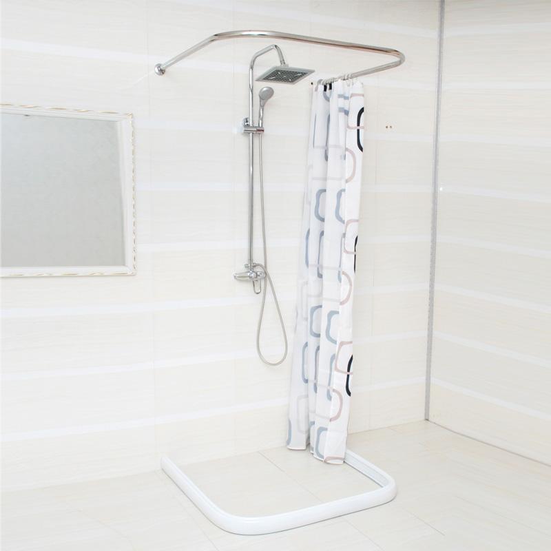 U Shaped Bathroom Shower Curtain Rod Shower Curtain Rod