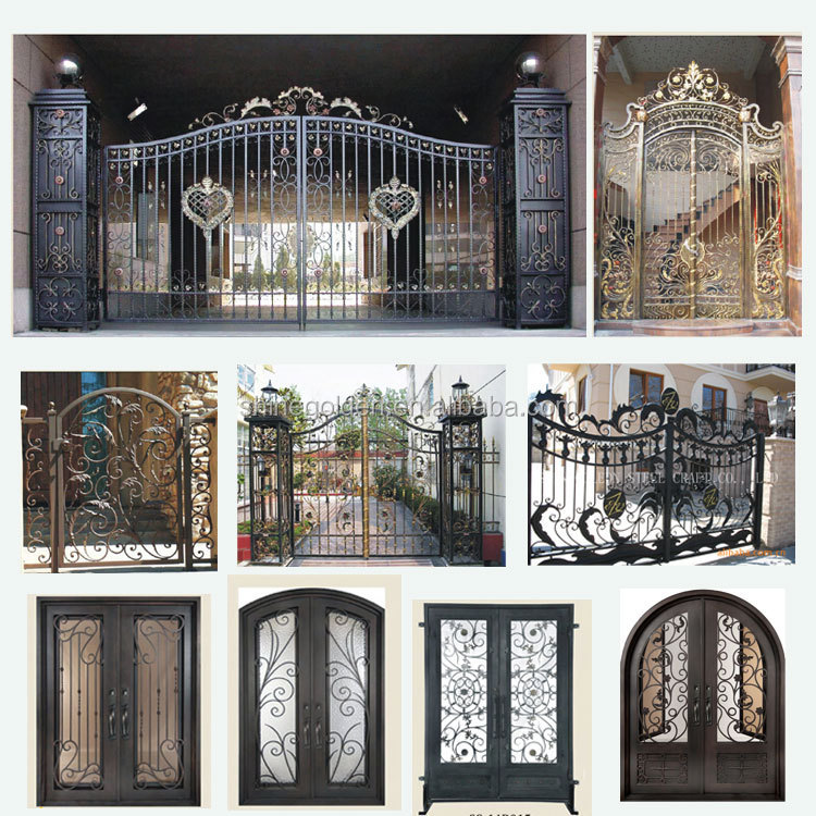 Gyd 15g0084 Royal Palace Mighty Wrought Iron Gate Luxury
