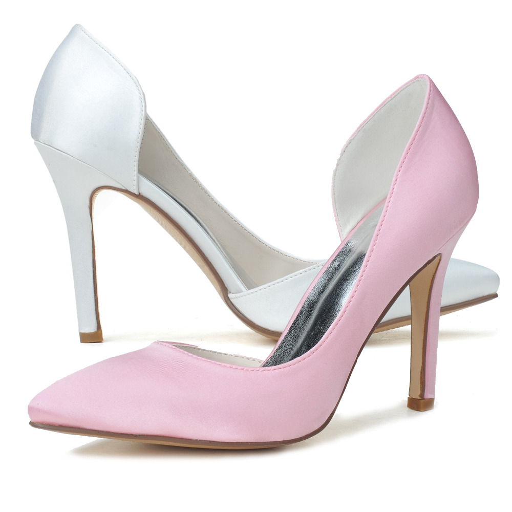 White wedding shoes closed toe