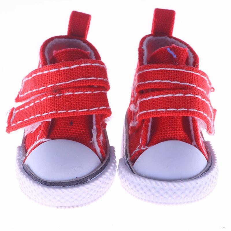 2018 новые модные кукольные аксессуары для игрушечной куклы, обувь 5 см, джинсовая парусиновая мини-игрушка, обувь 1/6, сапоги для русской ткани ...(Китай)